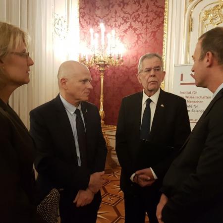 Prof. Gili Drori, Prof. Tamir Sheaffer, Alexander Van der Bellen, Noam Shoval
