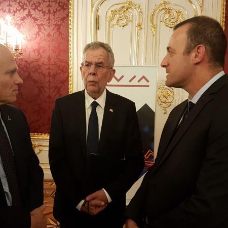 Prof. Tamir Sheaffer, Alexander Van der Bellen, Prof. Noam Shoval
