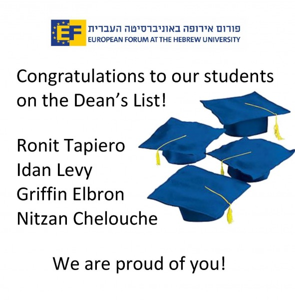 Congratulations to our students on the Dean's List