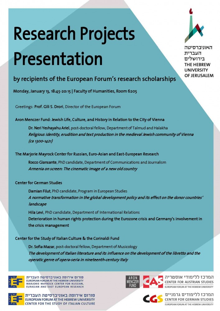 Presentation of Research Projects