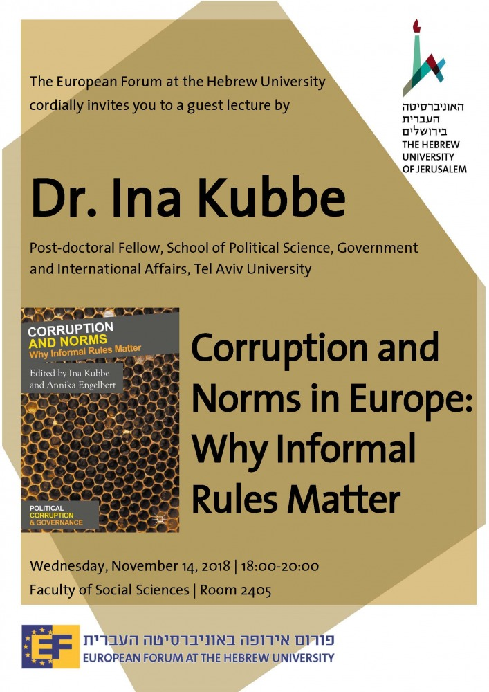 Guest Lecture - Dr  Ina Kubbe | European Forum