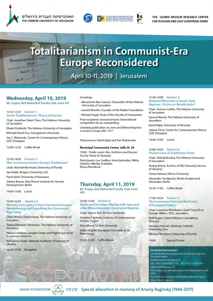 Totalitarianism in Communist-Era Europe Reconsidered